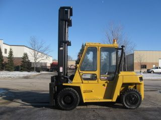 Caterpillar 15000 Lb Capacity Forklift Lift Truck Rough Terrain Tires With Cab photo