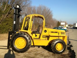 2006 Sellick 8000lb Capacity Forklift Lift Truck Rough Terrain Tires photo