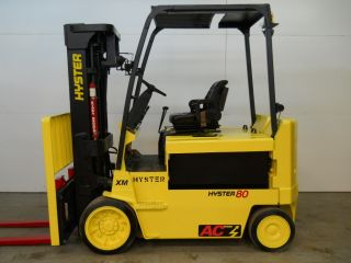 2006 Hyster 8000 Lb Capacity Electric Forklift Lift Truck Recondtioned Battery photo