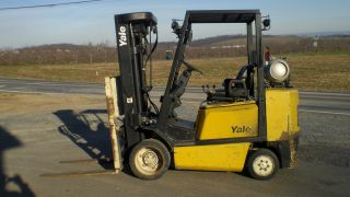 Yale Gc065tg 5000 Lb.  Forklift Powered Industrual Truck Towmotor 4 Stage Mast photo