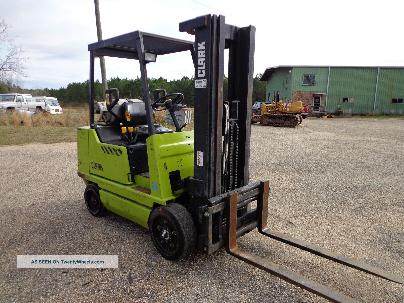 Fork Lift Foot : Clark gcx forklift lpg propane gas foot