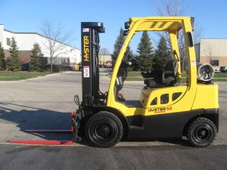 2007 Hyster 5000 Lb Capacity Forklift Lift Truck Pneumatic Tire Lp Gas Propane photo