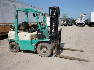 2003 Artison 5000 Lb 3 Stage Fork Lift 12484 photo