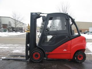 Linde H30d 6000 Lb Capacity Forklift Lift Truck Solid Pneumatic Tire Heated Cab photo