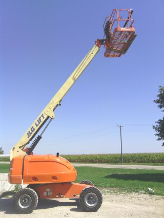 Jlg 400s Diesel 4x4 Boom Man Lift Aerial Stick Truck Telescopic Genie Snorkel photo