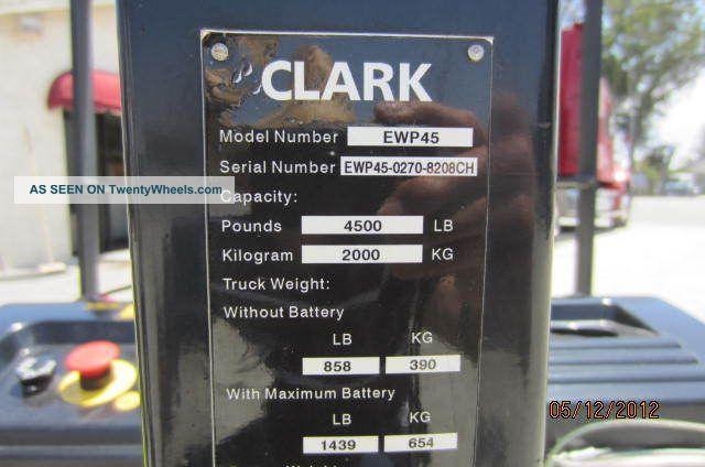 Clark Ewp 45 Electric Pallet Jack