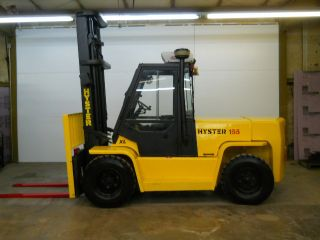 2006 Hyster 15500 Lb Capacity Forklift Lift Truck Pneumatic Tire Heated Cab & Ac photo