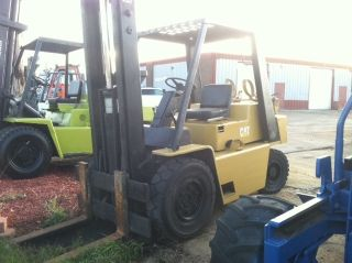 Caterpillar Pneumatic 8000 Lb V80c Forklift Lift Truck photo