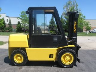 1999 Hyster H90xls Forklift 9000lb Diesel Pneumatic Lift Truck photo