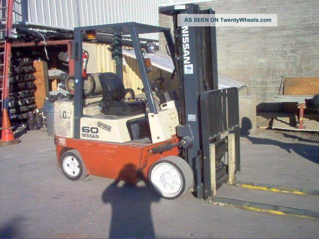 forklift nissan 60 optimum side shift 5225 lbs lift 187 max h rh twentywheels com
