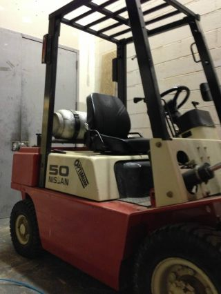 Forklift 2002 Nissan Optimum 50 Propane Pj02a25 3280hrs Only Forklift photo