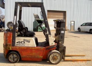 2002 Nissan Cpj02a20pv,  4,  000,  4000 Cushion Tired Trucker Special Forklift photo