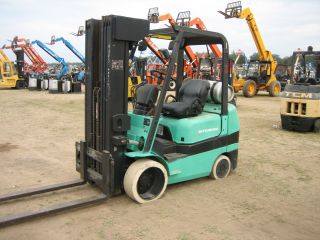 2003 Mitsubishi Fgc25 5000 Forklift Non Mark Tire 4 Cyl Propane Compact Hd Lift photo