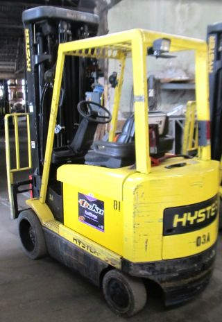 Hyster E60xm2 - 33 Electric Forklift 48v Cushion Tires Quad Mast photo