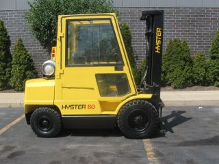 2002 Hyster H60xm 6000lb Pneumatic Lift Truck Full Cab photo