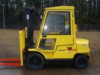 2003 Hyster H50xm 5,  000 Lb.  Cap.  Pneumatic Tire Forklift Truck - Gs Rated photo