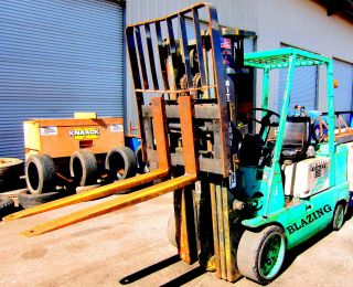 1983 Mitsubishi Model Fg030 Digital Domain 30 Forklift Excellent Working Cond. photo