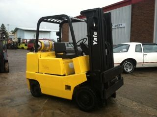 Yale Cushion 8000 Lb Glc080 Forklift Lift Truck photo