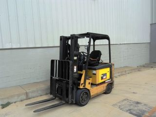 Caterpillar Electric 36v Forklift.  Low Hours On This 6000 Capacity Lift Truck photo