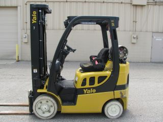 2009 Yale 5000 Pound Lp Gas Forklift + 90 Day Parts Warranty photo