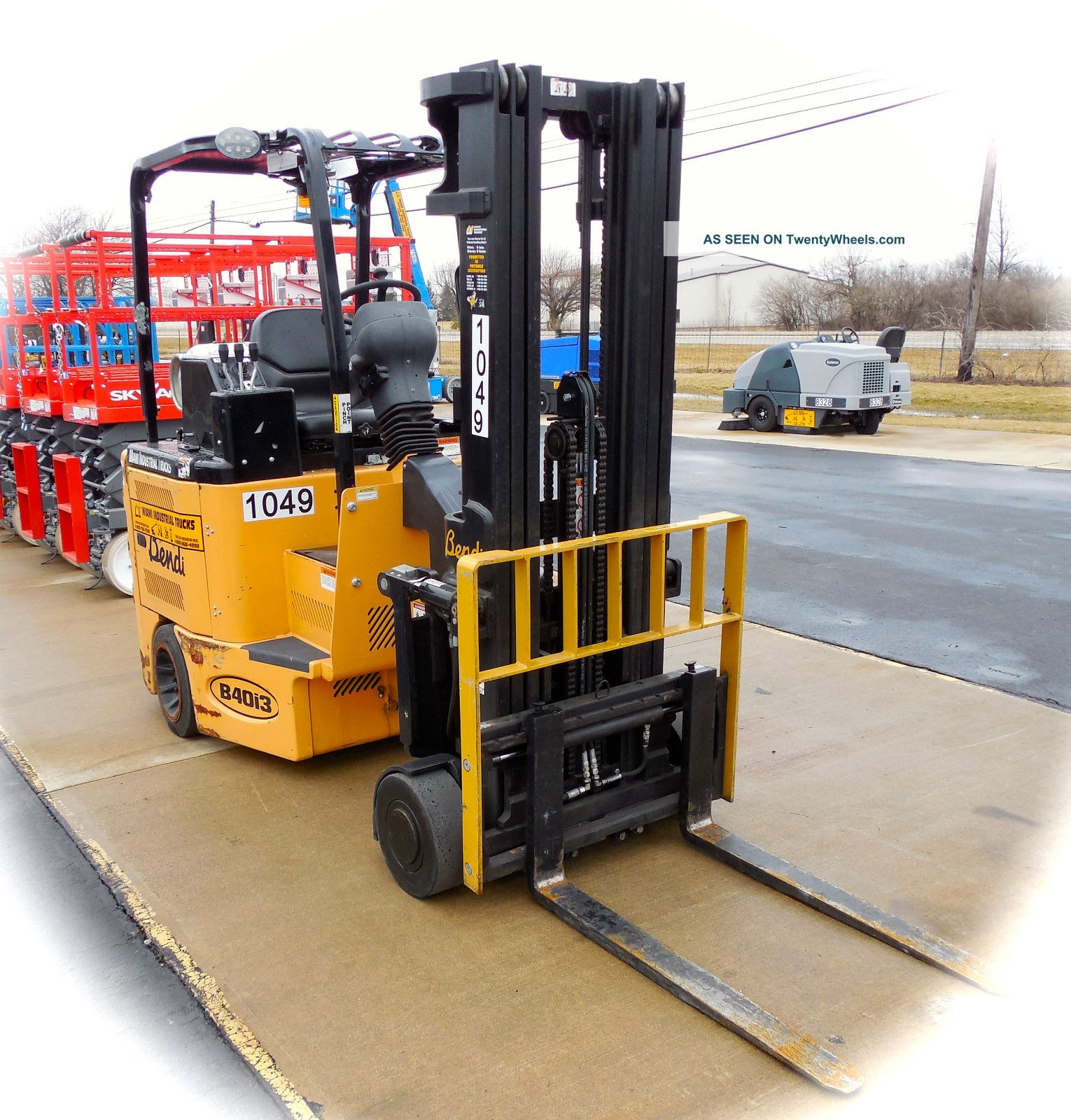 1049 bendi articulated lp powered forklift Motorized forklift