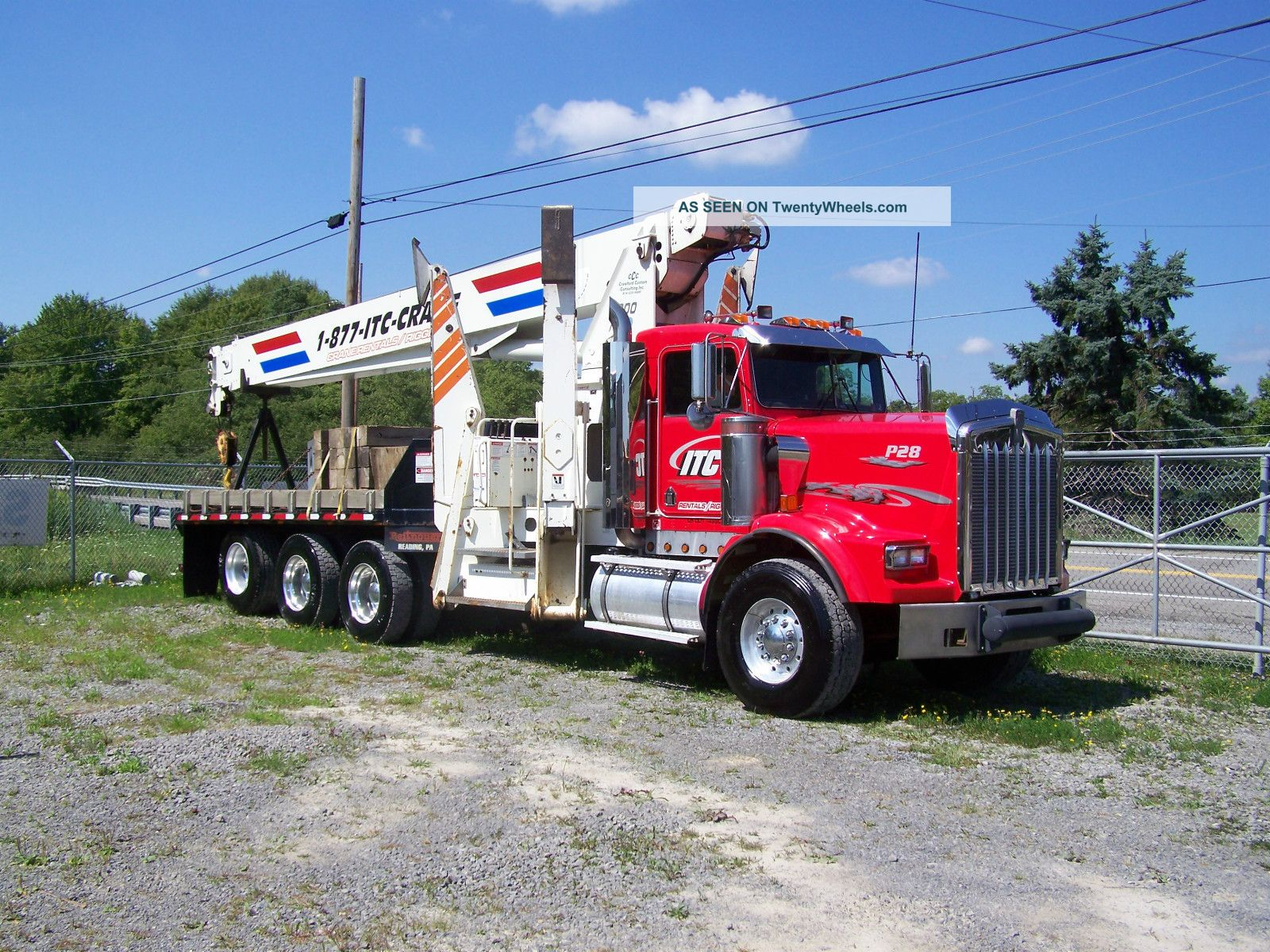 Pioneer4000 Manitex Kenworth 28 Ton Boomtruck 94 Main Boom; 44 ' Jib Cummins Dsl Cranes photo