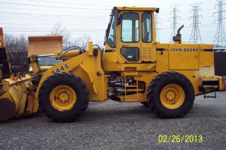 John Deeer 1990 544e Wheel Loader 6989 Hrs Bucket Size 2.  25 Yd - Tires 17.  5 - 25 photo