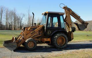 Case 580k 4 Wheel Drive Backhoe Loader Extendahoe Cummins 3.  9 Diesel Snow Plow photo
