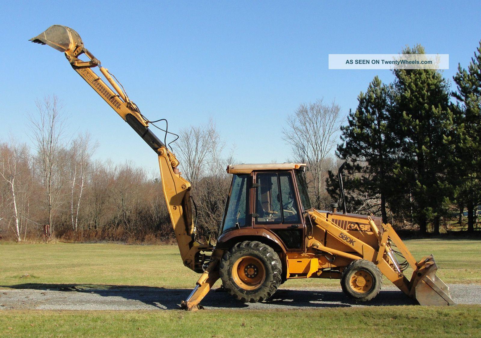 1989 Case 580k Backhoe Parts : Case k wheel drive backhoe loader extendahoe cummins