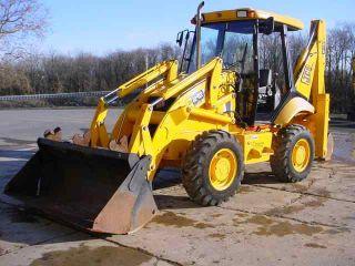 Clean 2004 Jcb 212 Tractor Loader Backhoe 4x4 W/rops,  959 Hours,  4n1 Bucket photo