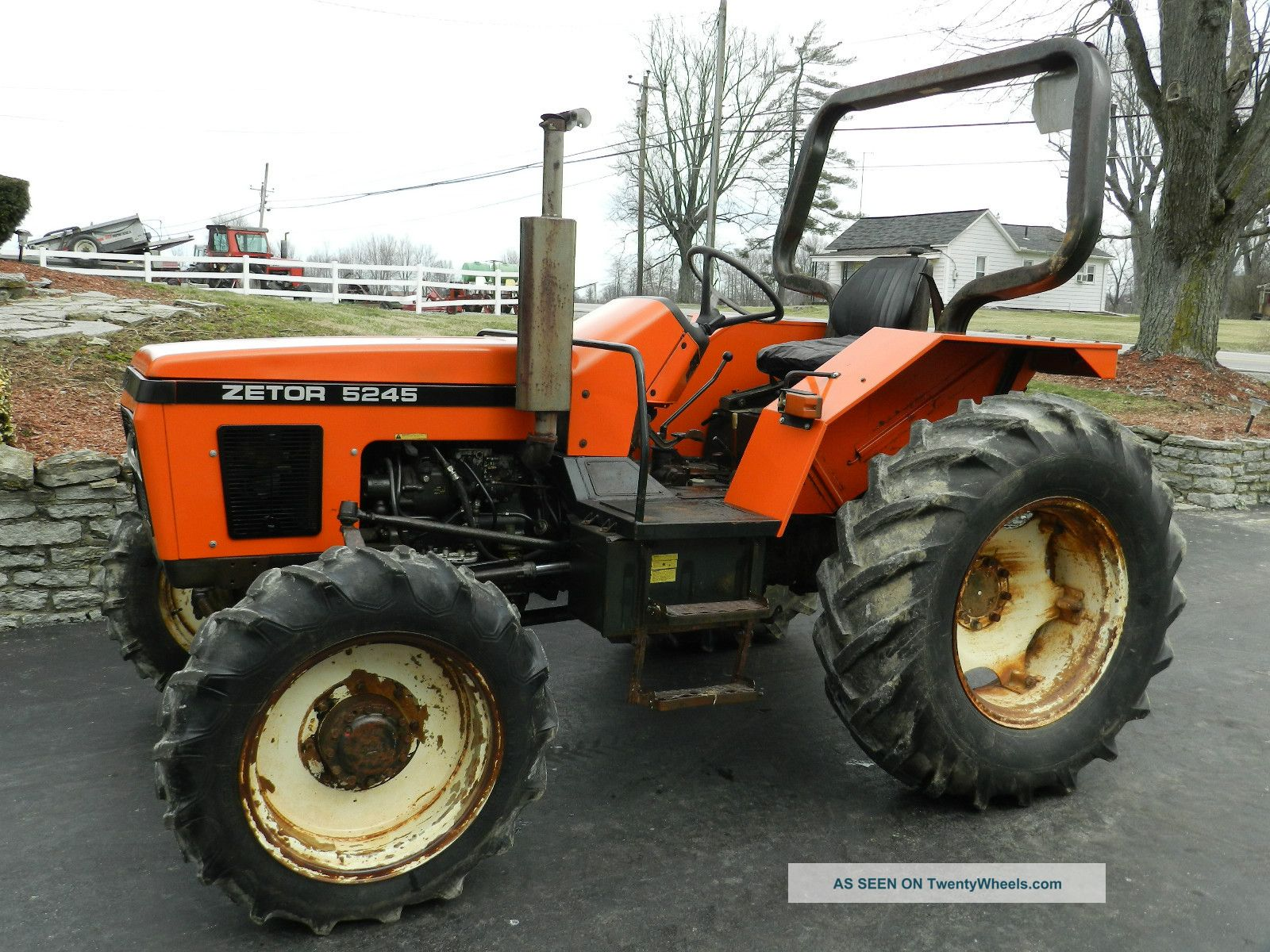 Zetor 5245 Tractor - Diesel - 4x4 - & Front Hydraulic Loader