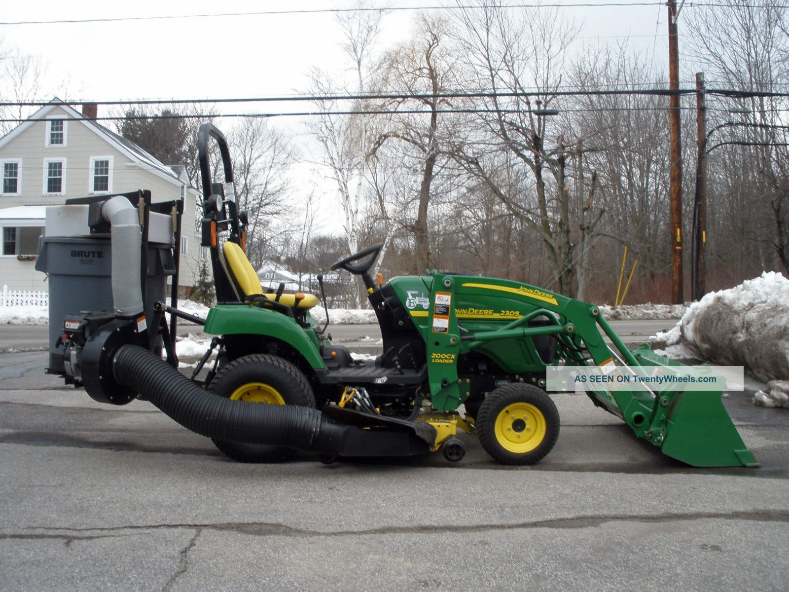 John Deere Wd Diesel Tractor Loader Mower Trac Vac Collection System Lgw