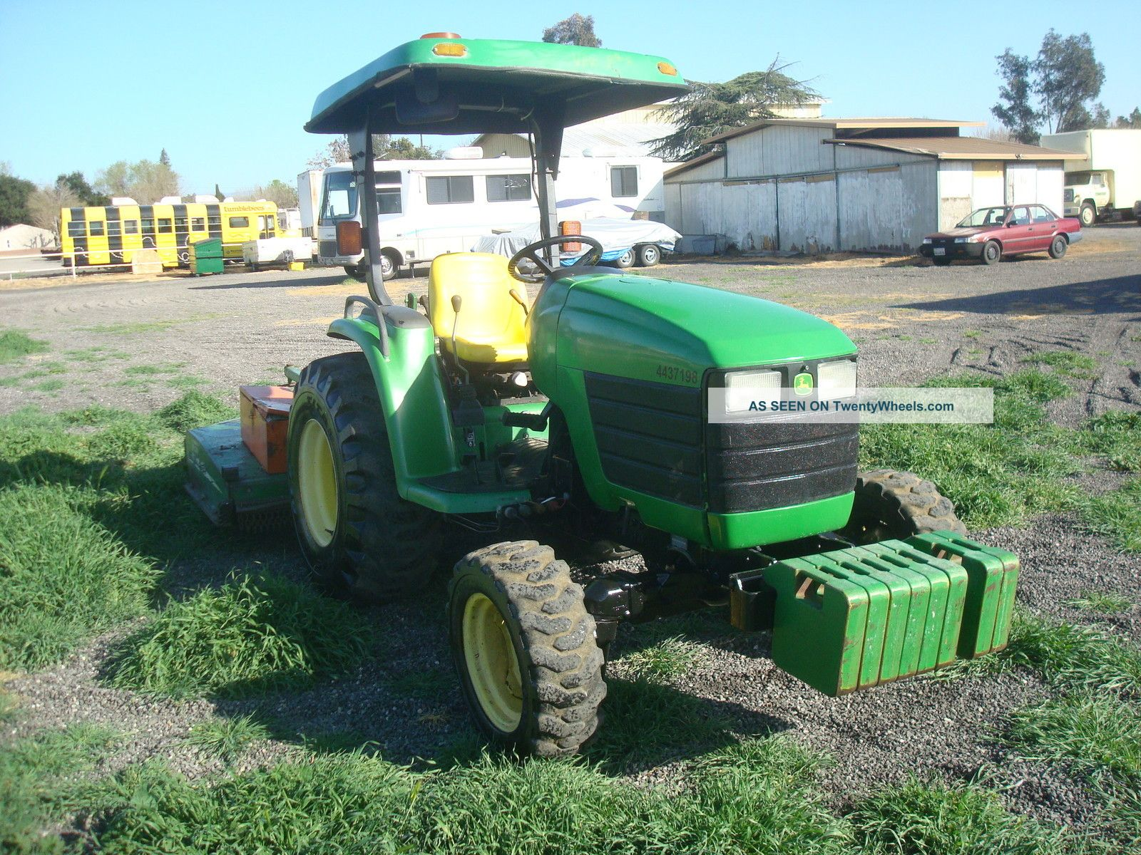 John Deere Mfwd Wd Hours With Mx Mower Very Clean From Ca City Lgw