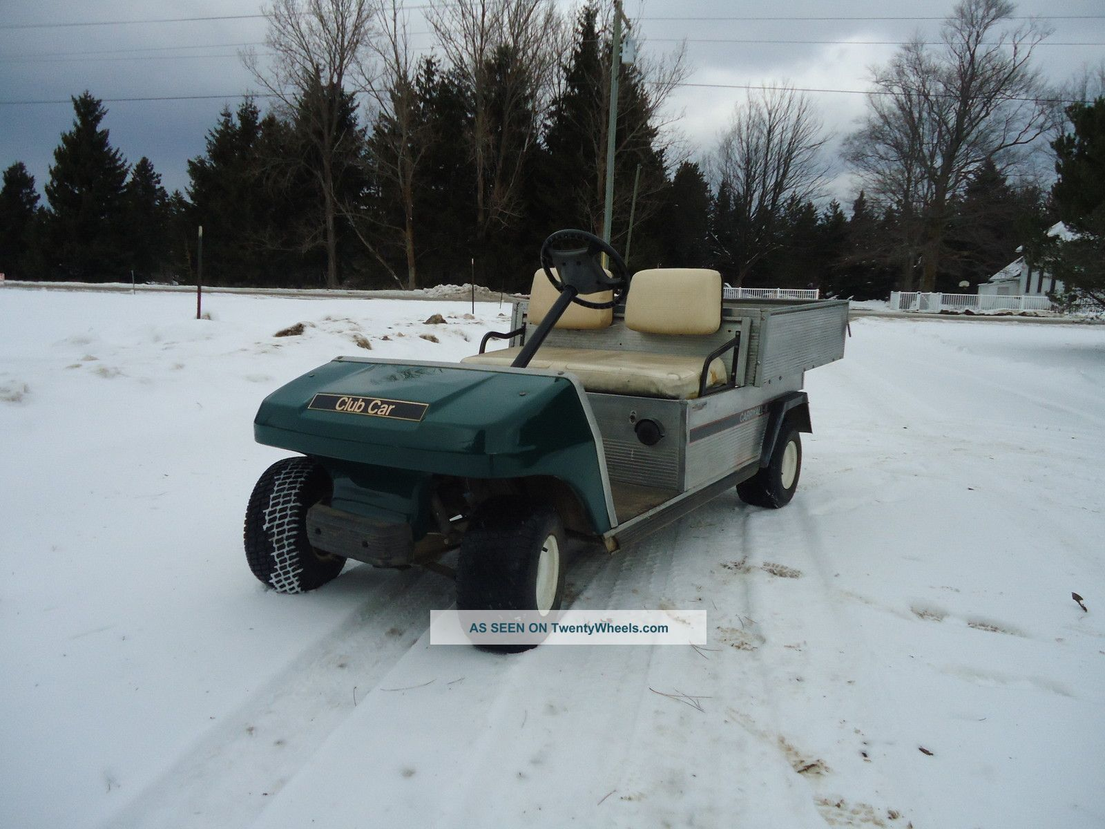 1997 Club Car Carry All With Hydraulic Aluminum Dump Bed Utility Vehicles photo