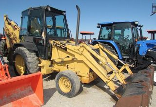 Ford / Holland 455c 4wd Loader / Extenda Hoe Backhoe With Cab photo