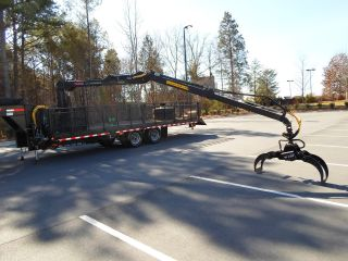 Log Loader Trailer Knuckle Boom Loader photo