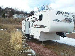 2007 Keystone Raptor 3712ts Fifth 5th Wheel Toy Hauler Rv photo