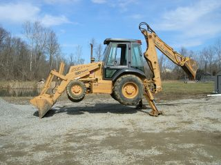 1998 Case 580 L Backhoe 4x4 Extended Hoe photo