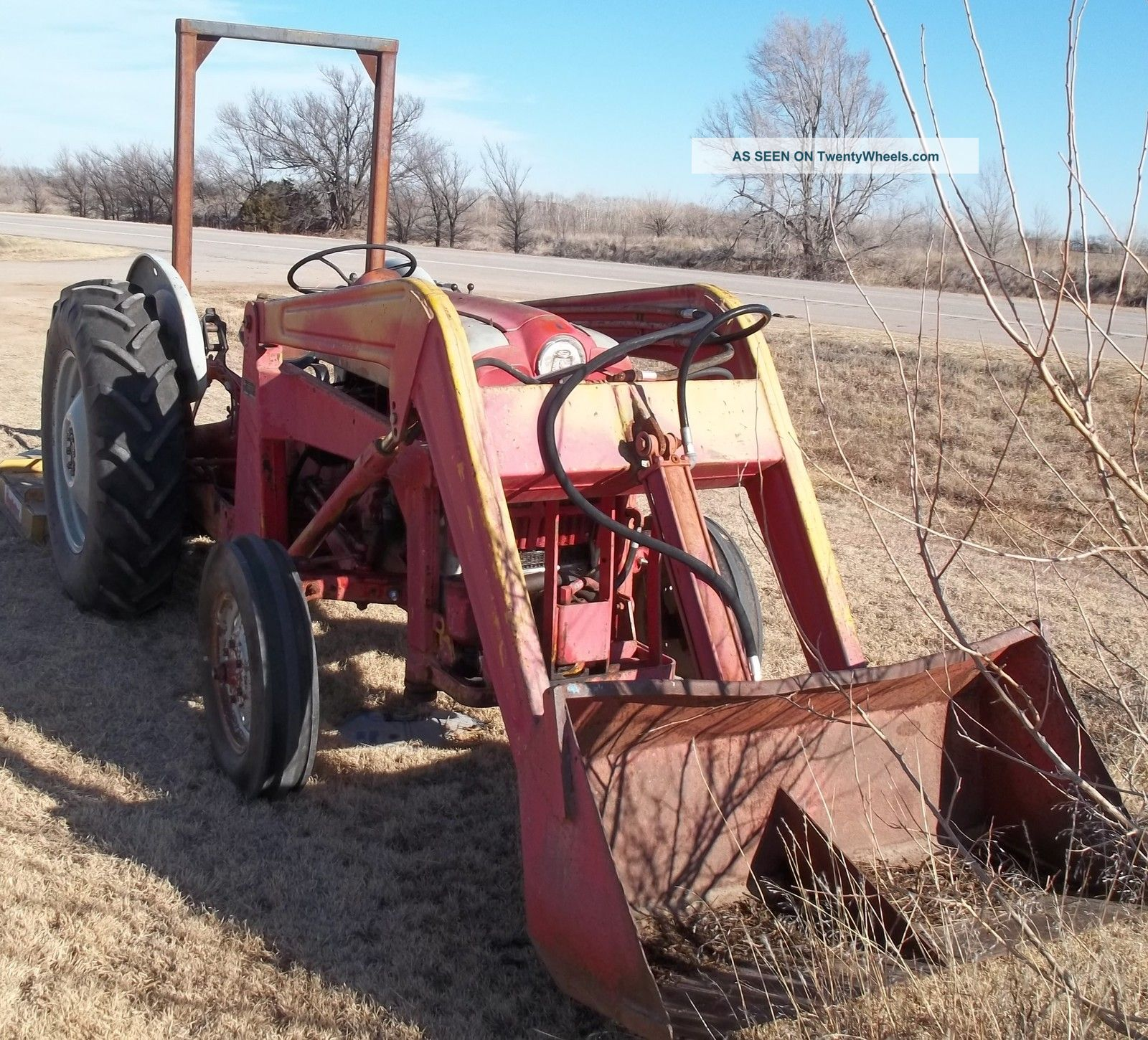 1950 S Ford 801 Tractor W Massey Ferguson Front Loader
