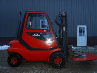 Linde H25d - 03 5000 Lb Diesel Fork Lift Truck Solid Pneumatic Tires photo