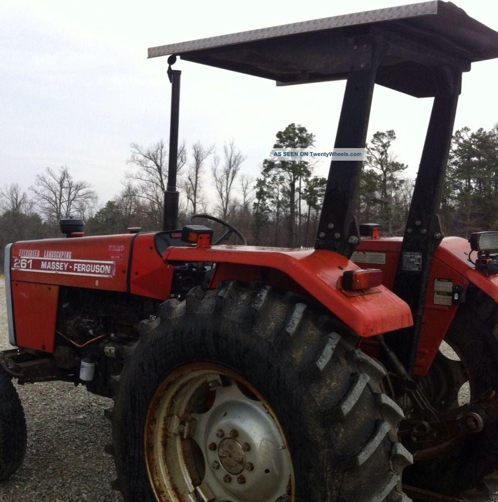 Massey Ferguson Canopy Top : Massey ferguson farm tractor rear tires canopy top