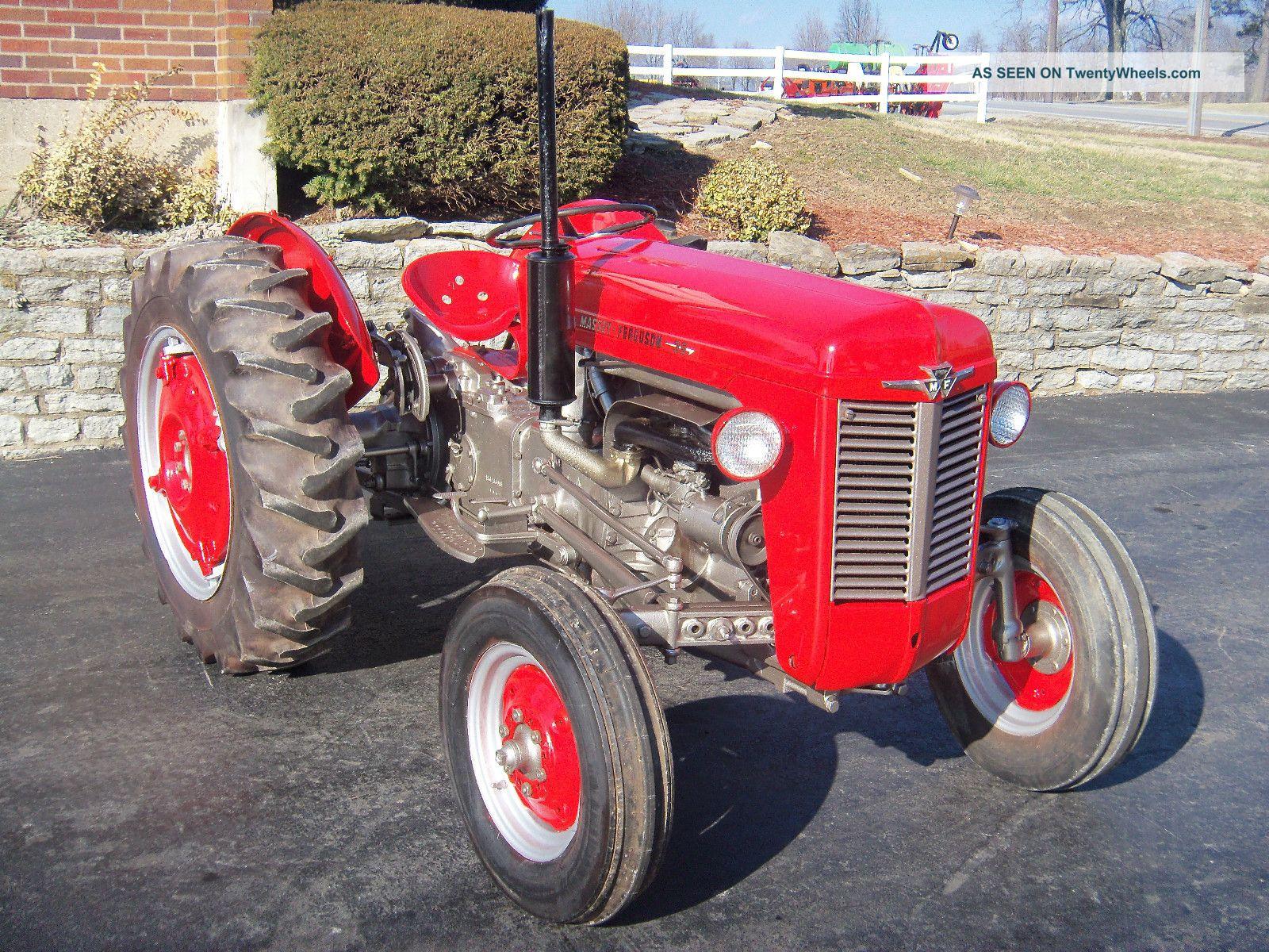 Massey Ferguson 35 Tractor : Massey ferguson tractor gas restored