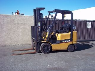 Caterpillar Forklift 2003 5,  000lb Capacity Side - Shiter,  Cushion Tire photo