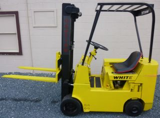 White 2 Tier Forklift Model Wc30s Gas Engine Rated For 3,  000 Lbs Lift photo