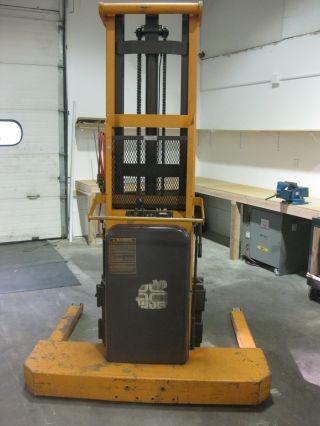 Big Joe Walk Behind Electric Hydraulic Straddle Lift 2500lb photo