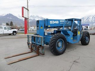 Forward Reach Forklift Gradall 534b8 4x4 8,  000 Lb Telehandler Perkins Diesel photo