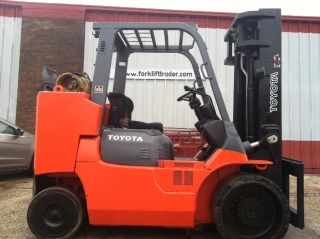 2004 Toyota Cushion 12,  000 - 15,  000 Lb 7fgcu55 Box Car Special Forklift Lift Truck photo
