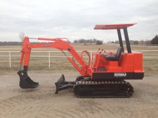 Kubota Kh60 Mini Excavator Trackhoe Backhoe Dozer Only 3499 Hours photo
