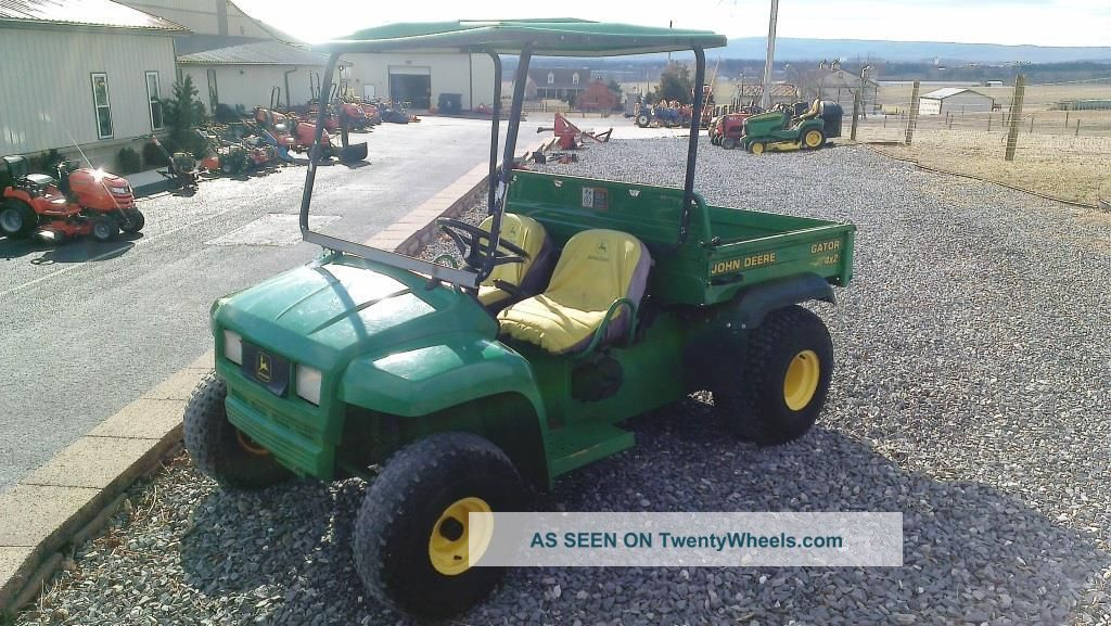 2000 John Deere 4x2 Gator Utv W/ Canopy.  Kawasaki Engine. . Utility Vehicles photo