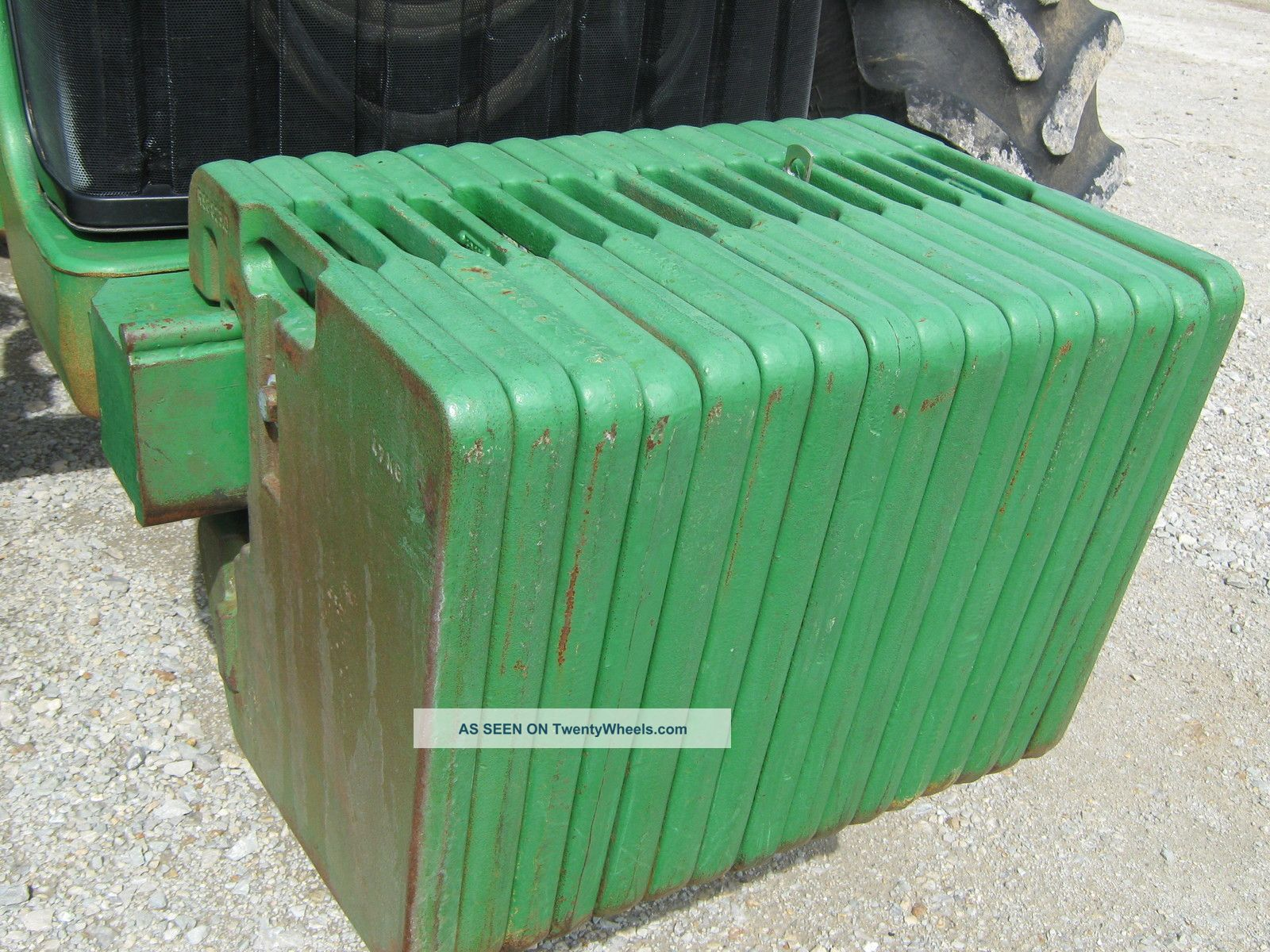 John Deere Tractor Counterweights : John deere mfwd farm tractor remotes r rubber